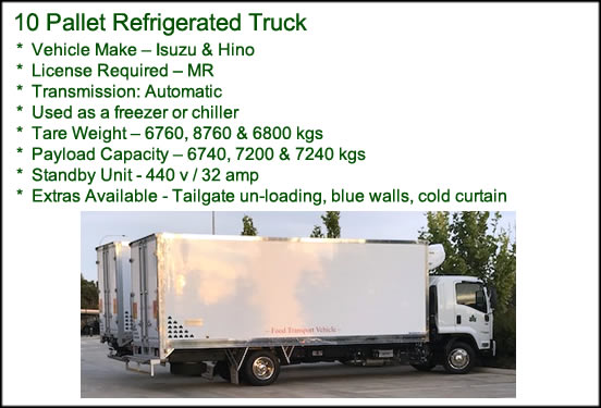 10 Pallet Refrigerated Truck